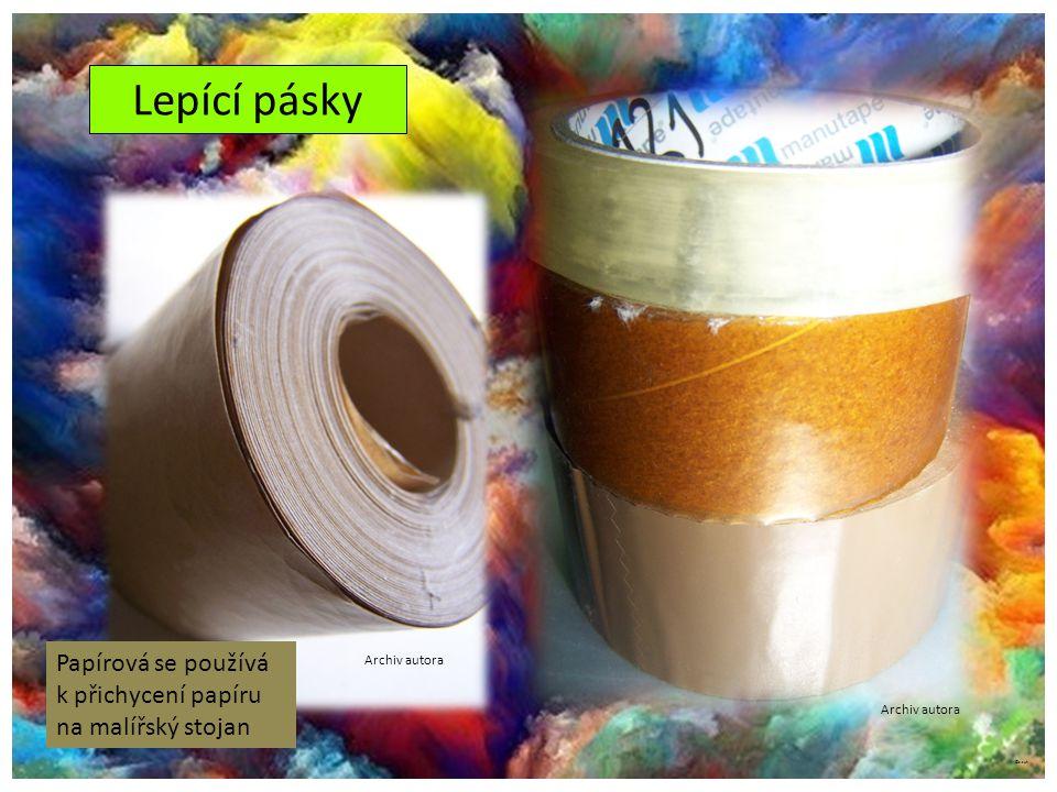 Lepící pásky Papírová se používá k přichycení papíru