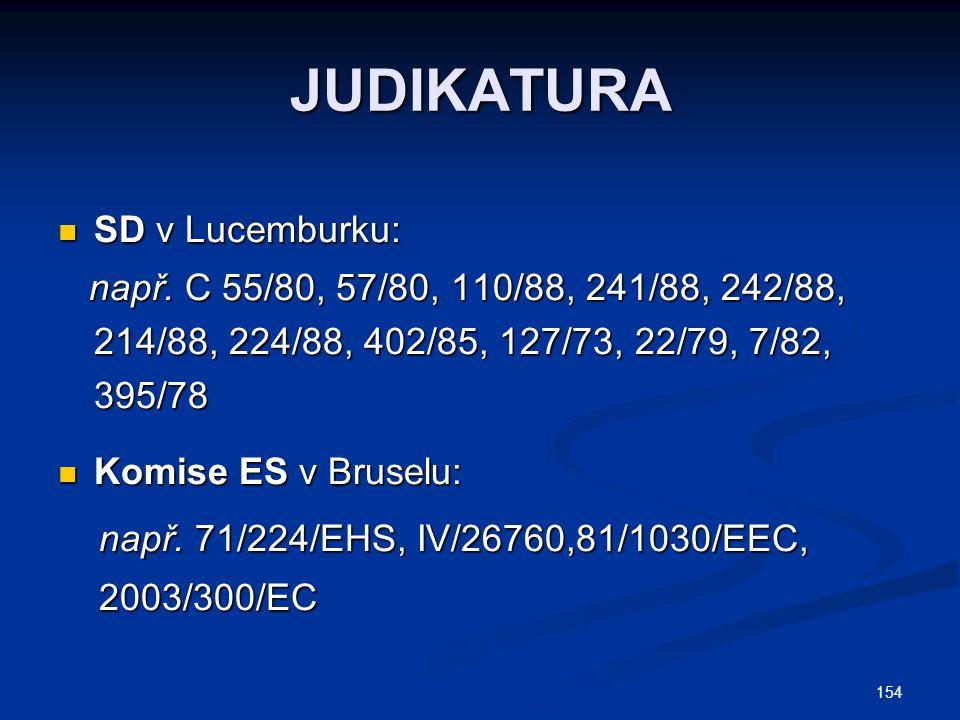 JUDIKATURA SD v Lucemburku: