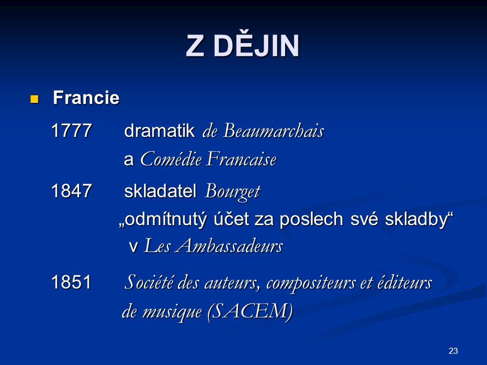 Z DĚJIN de musique (SACEM) Francie 1777 dramatik de Beaumarchais