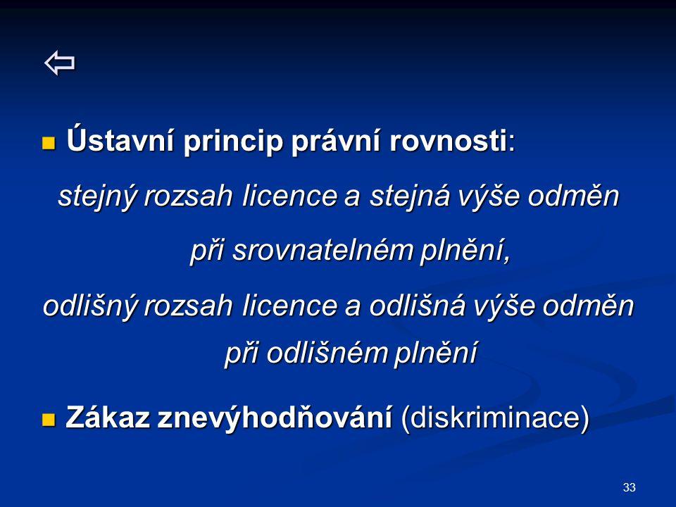  Ústavní princip právní rovnosti: