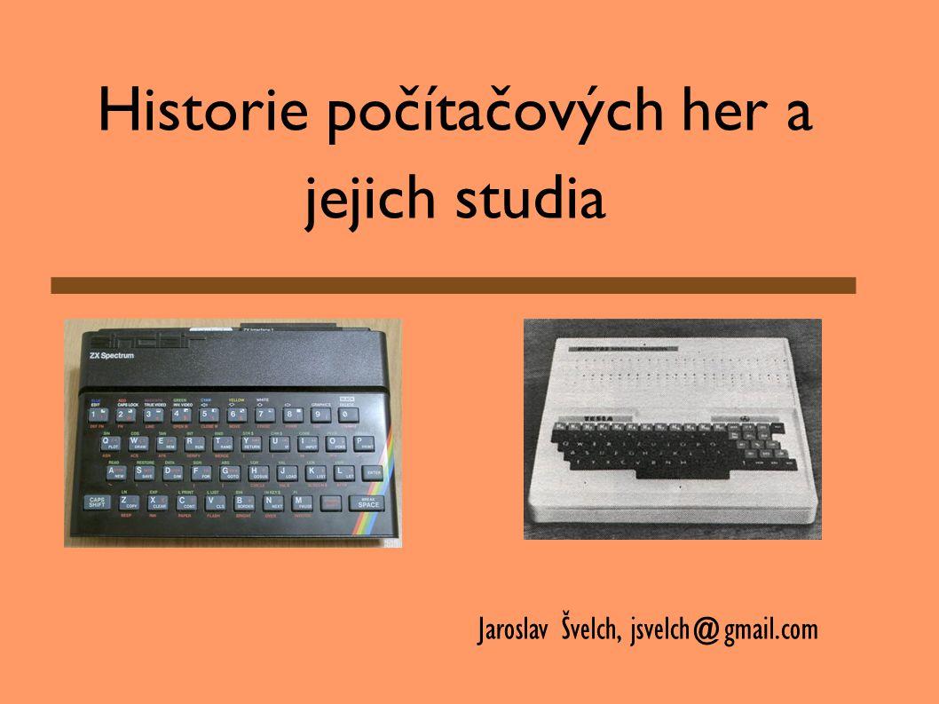 Historie počítačových her a jejich studia