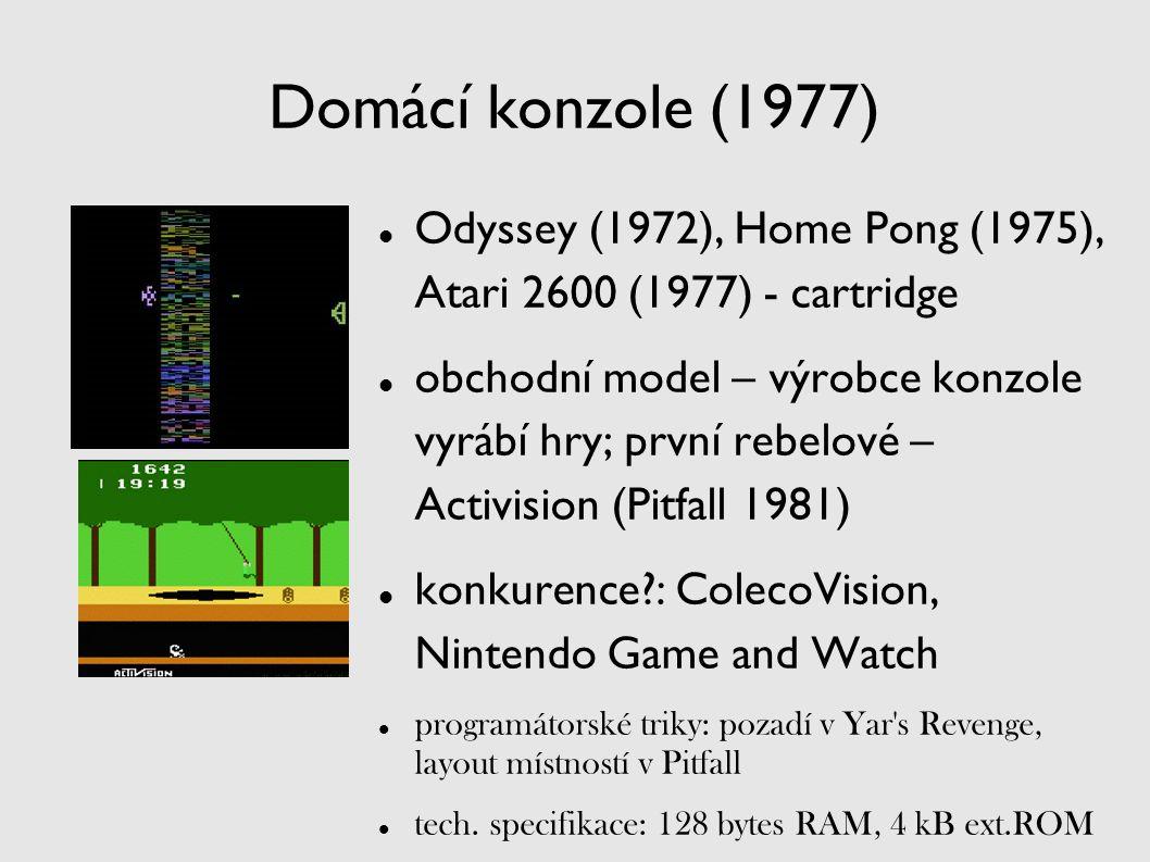 Domácí konzole (1977) Odyssey (1972), Home Pong (1975), Atari 2600 (1977) - cartridge.