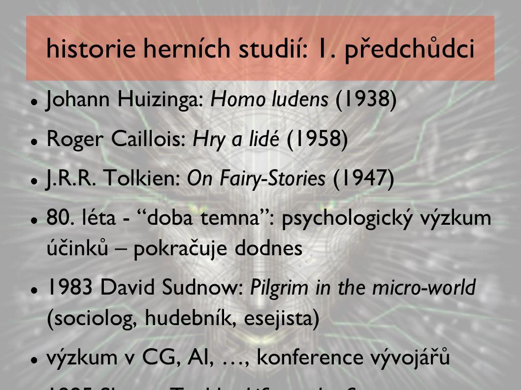 historie herních studií: 1. předchůdci