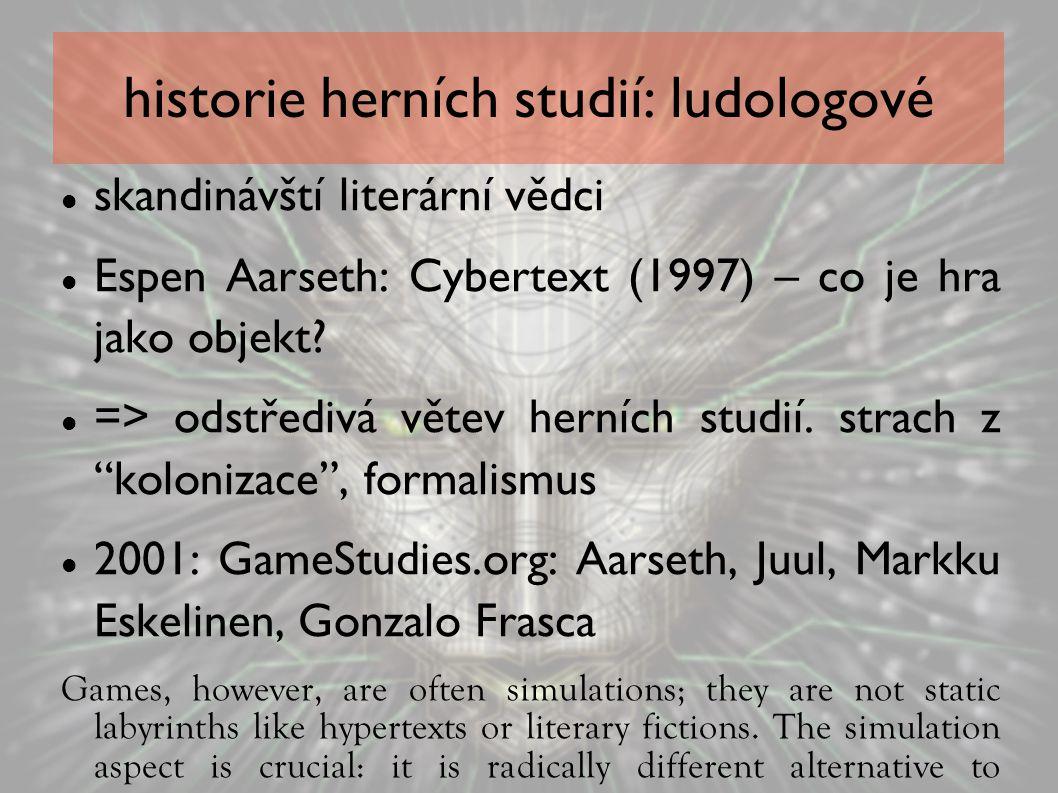 historie herních studií: ludologové