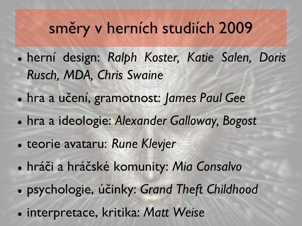směry v herních studiích 2009