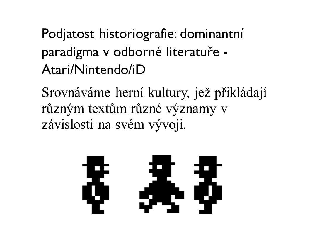 Podjatost historiografie: dominantní paradigma v odborné literatuře - Atari/Nintendo/iD