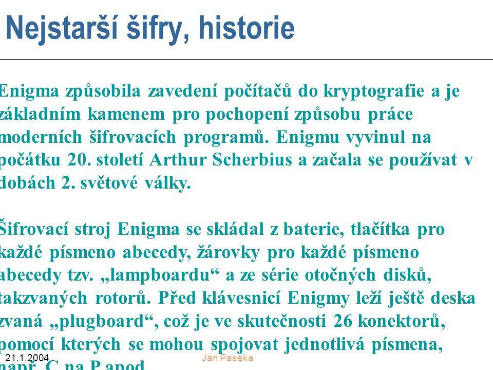 Nejstarší šifry, historie