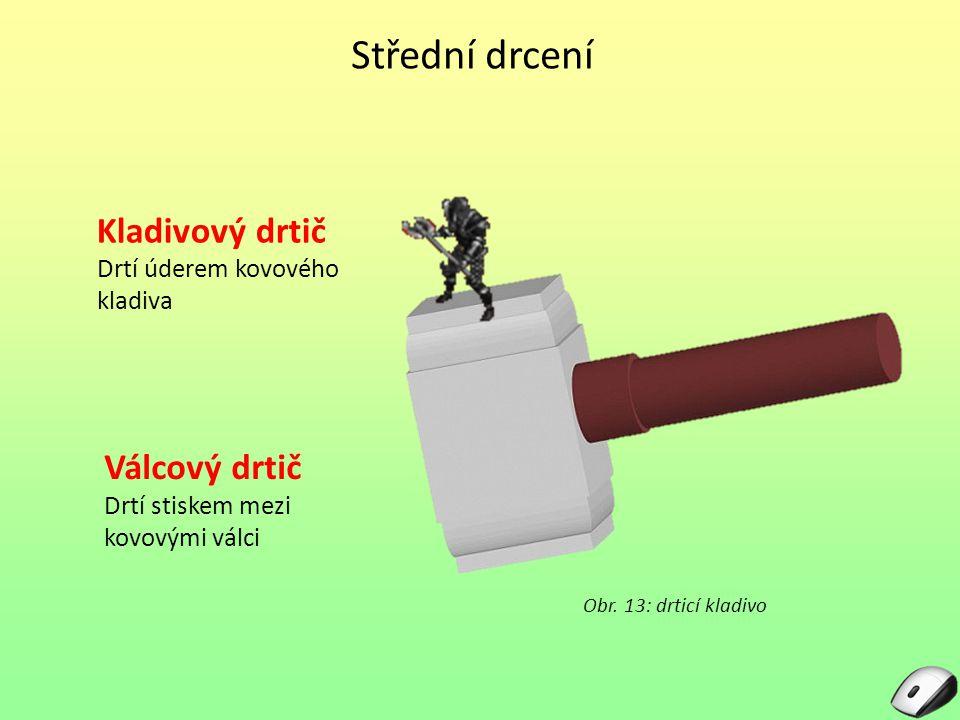Střední drcení Kladivový drtič Válcový drtič