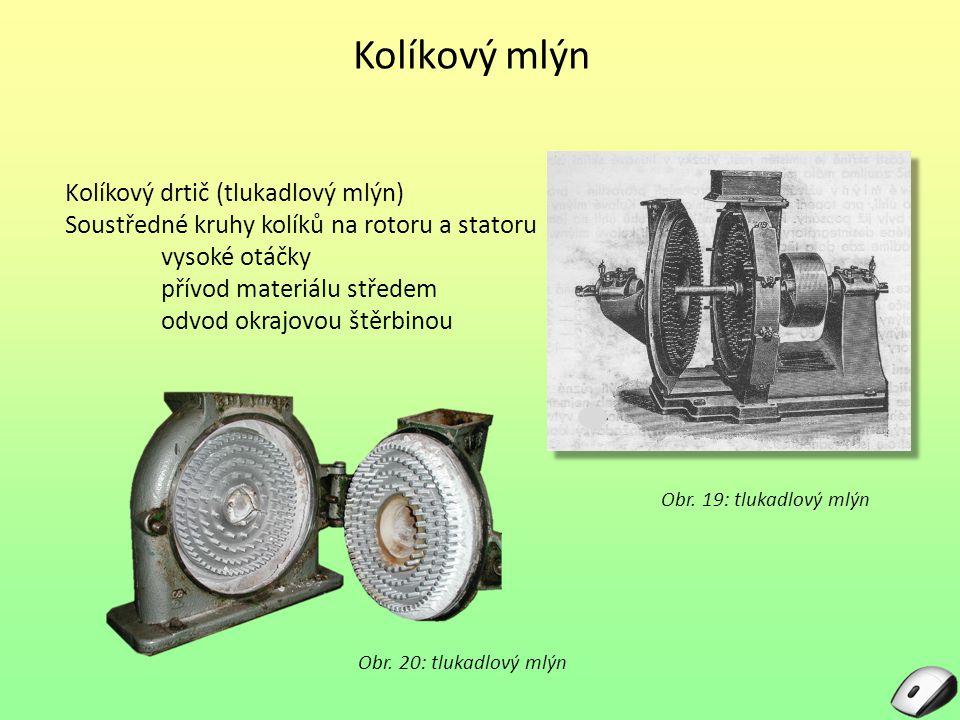 Kolíkový mlýn Kolíkový drtič (tlukadlový mlýn)