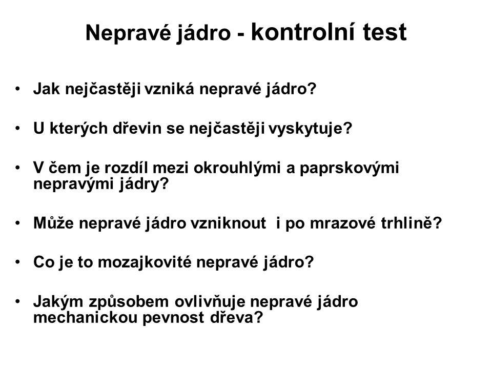 Nepravé jádro - kontrolní test