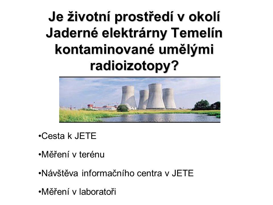 Je životní prostředí v okolí Jaderné elektrárny Temelín kontaminované umělými radioizotopy