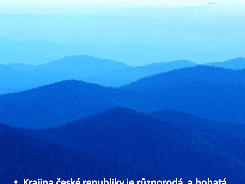 Krajina české republiky je různorodá, a bohatá na rostlinné i živočišné druhy rozmístěných po celé republice podle přírodních podmínek.