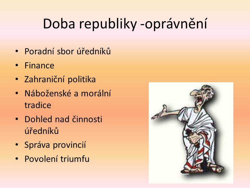 Doba republiky -oprávnění