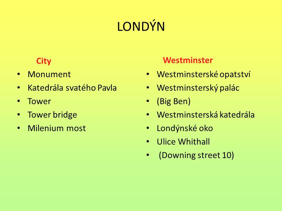 LONDÝN City Westminster Monument Katedrála svatého Pavla Tower