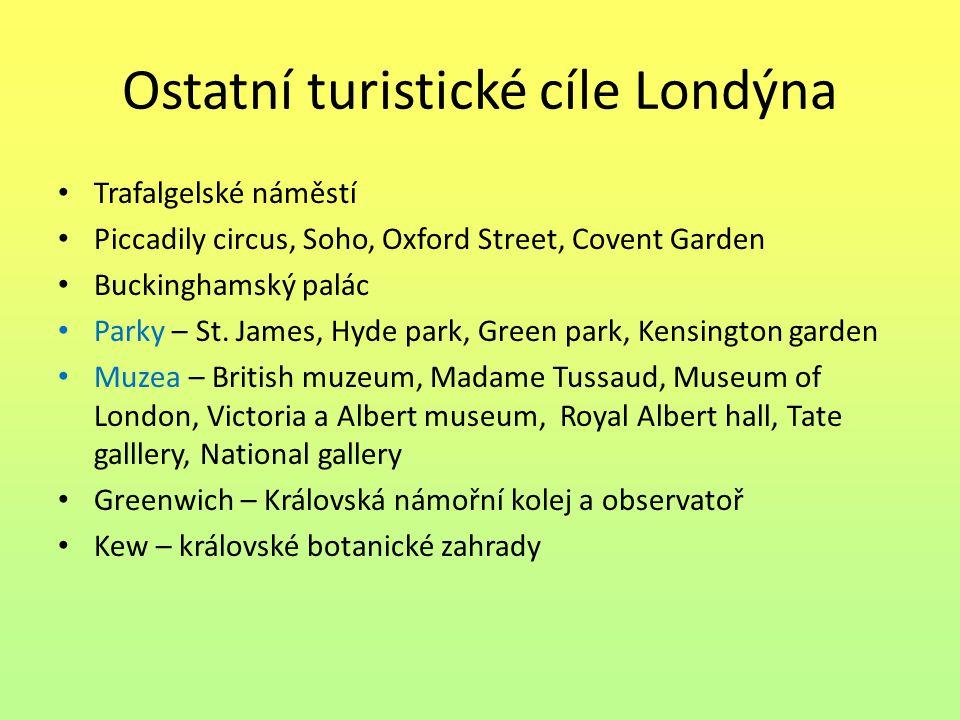 Ostatní turistické cíle Londýna