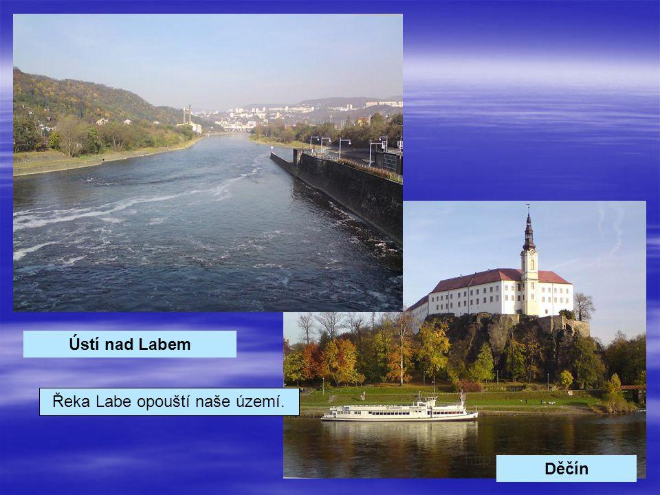 Řeka Labe opouští naše území.