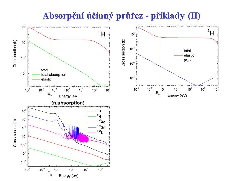 Absorpční účinný průřez - příklady (II)