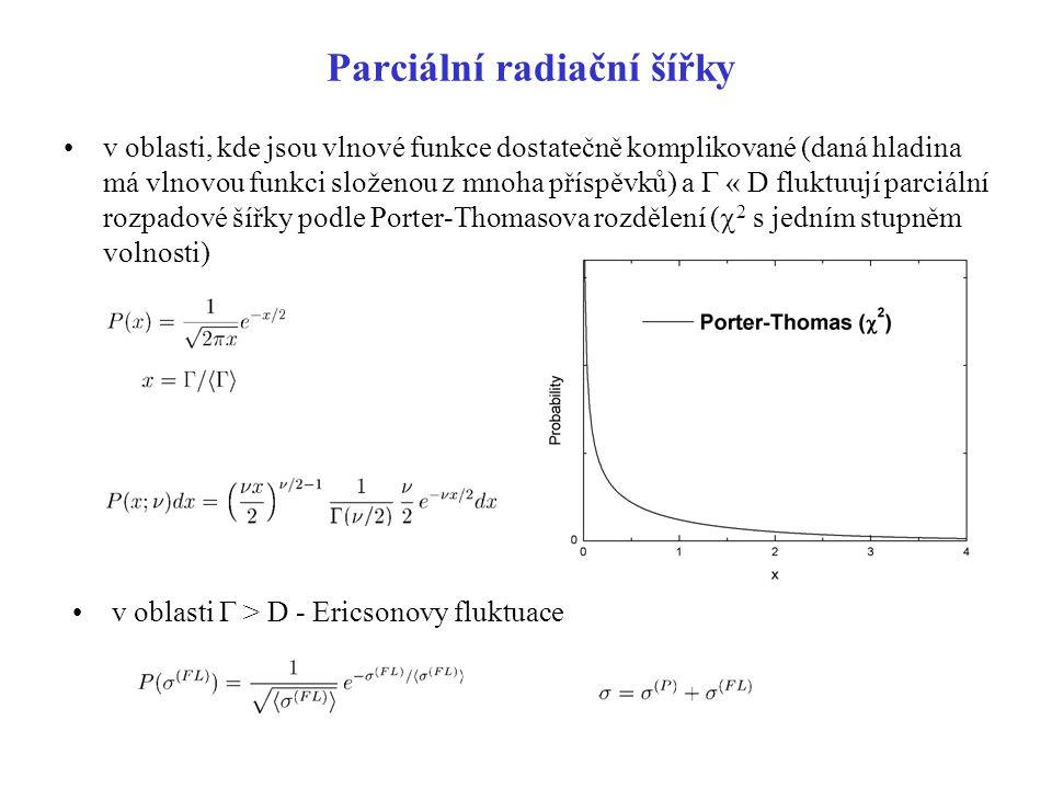 Parciální radiační šířky
