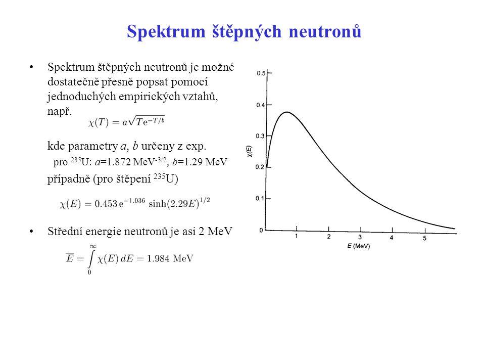 Spektrum štěpných neutronů