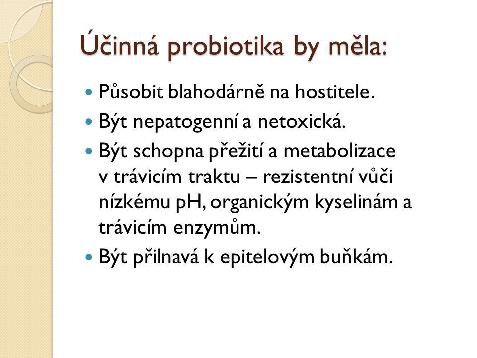 Účinná probiotika by měla: