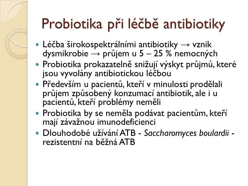 Probiotika při léčbě antibiotiky