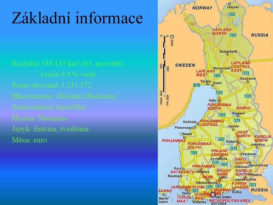 Základní informace Rozloha: 388 145 km² (63. na světě)