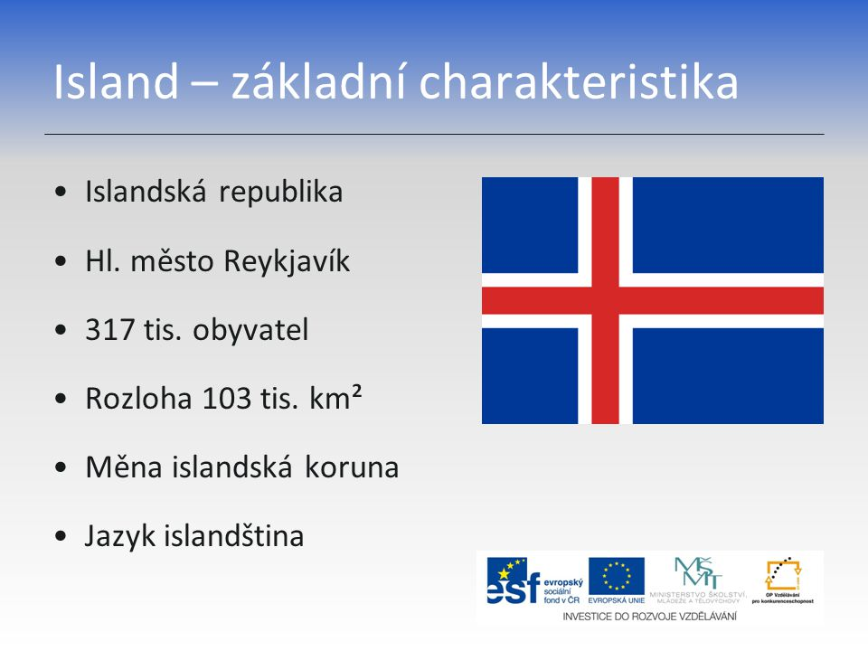 Island – základní charakteristika