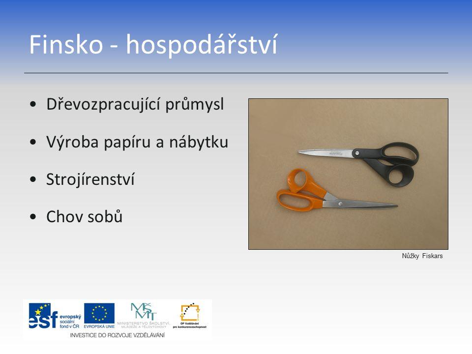 Finsko - hospodářství Dřevozpracující průmysl Výroba papíru a nábytku
