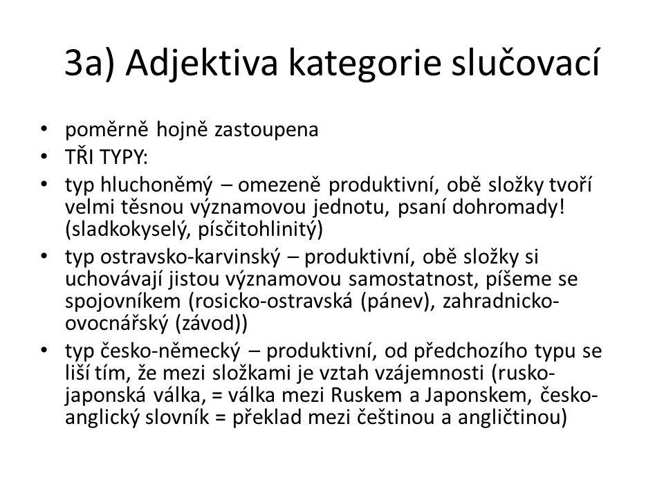 3a) Adjektiva kategorie slučovací