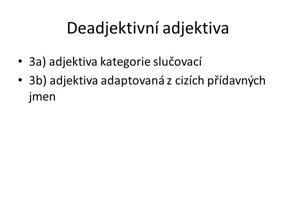 Deadjektivní adjektiva