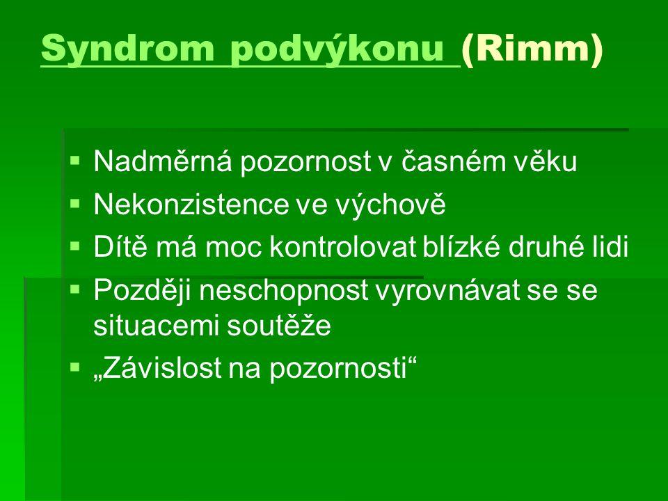 Syndrom podvýkonu (Rimm)