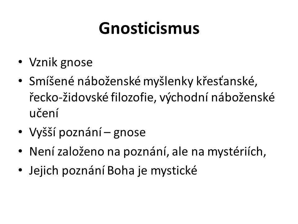 Gnosticismus Vznik gnose