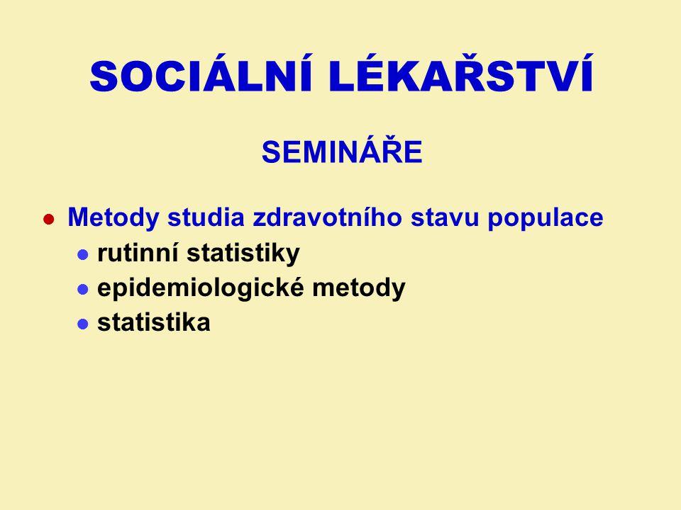 SOCIÁLNÍ LÉKAŘSTVÍ semináře