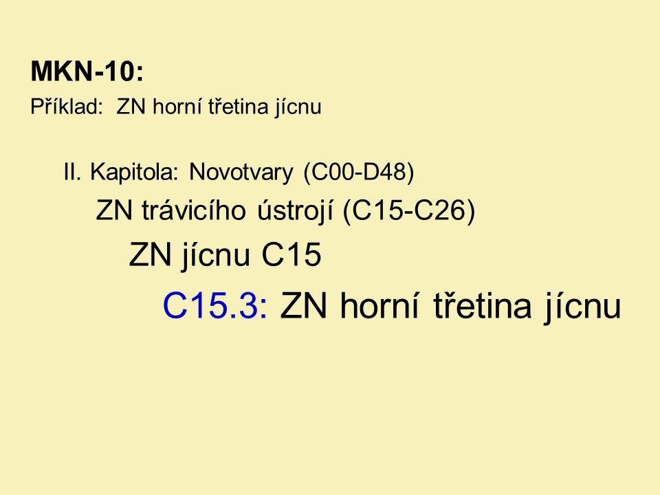 C15.3: ZN horní třetina jícnu