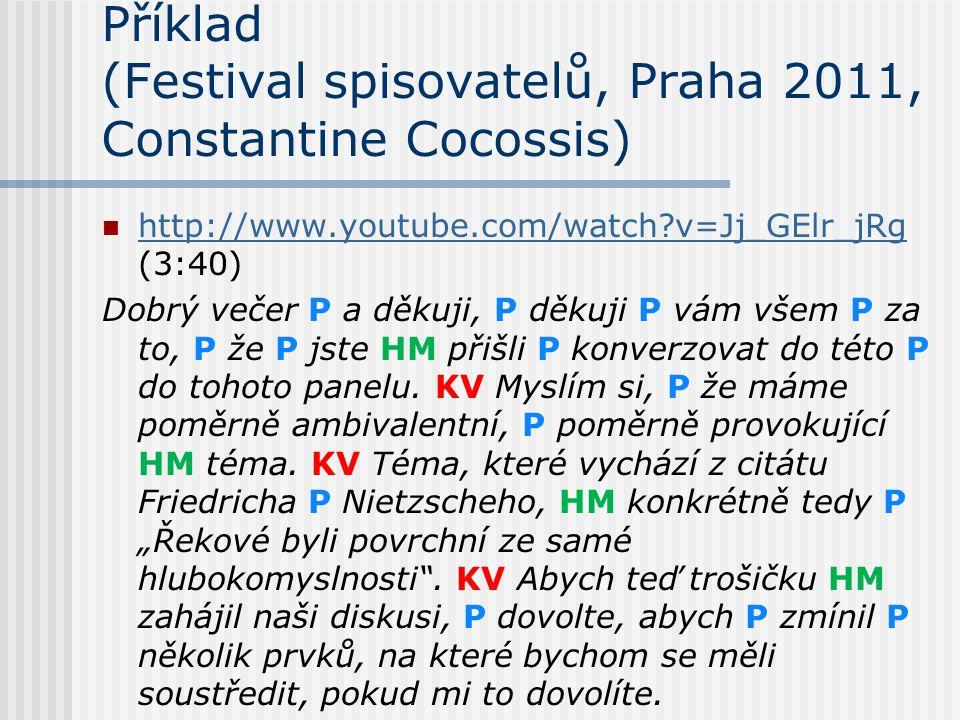 Příklad (Festival spisovatelů, Praha 2011, Constantine Cocossis)