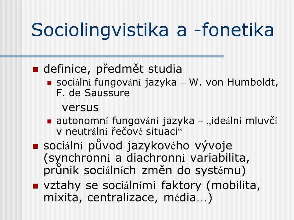Sociolingvistika a -fonetika
