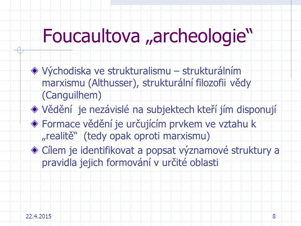 "Foucaultova ""archeologie"