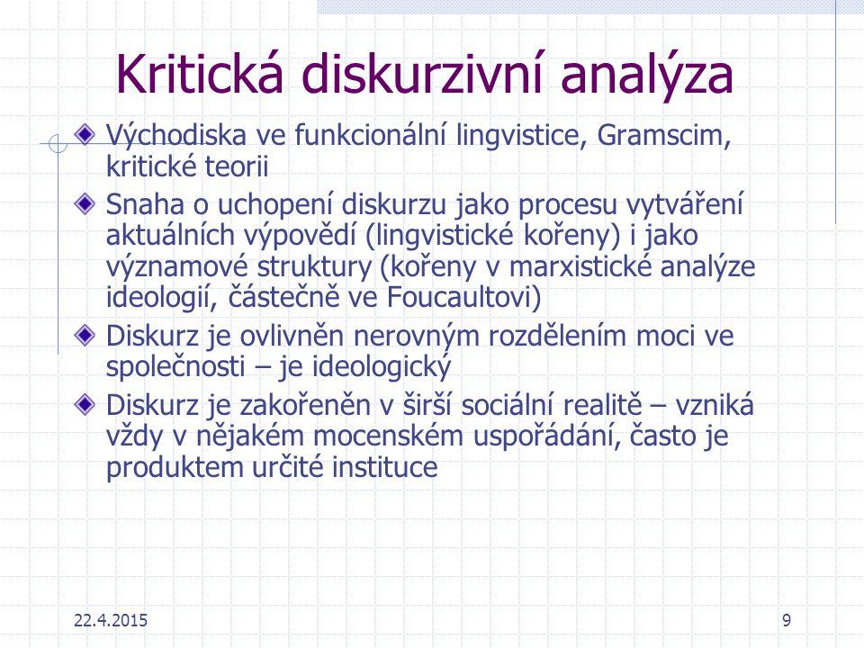 Kritická diskurzivní analýza