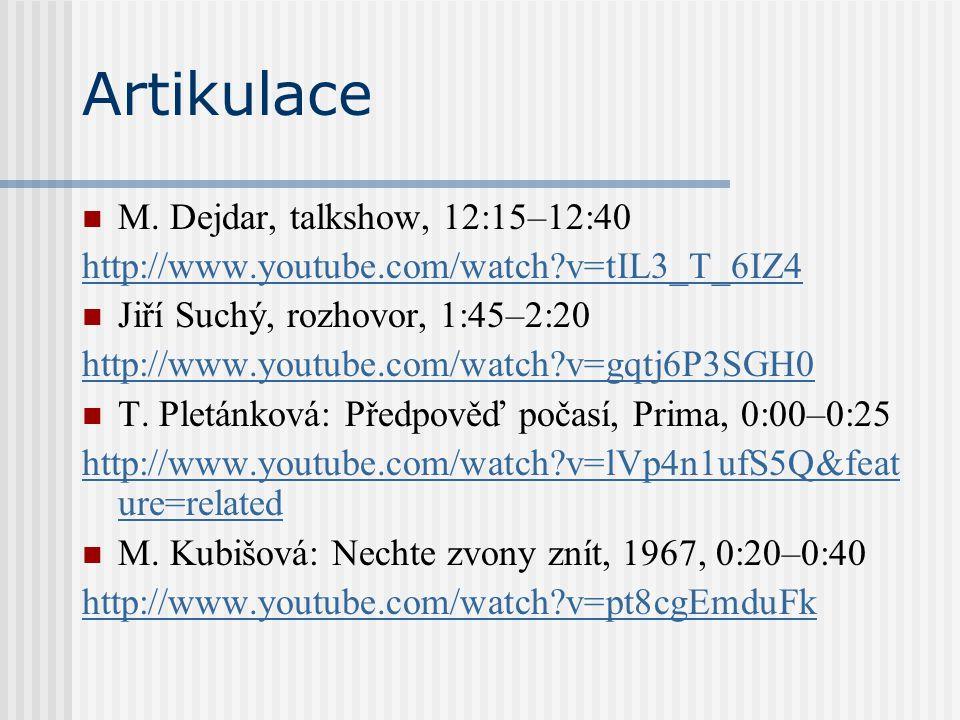 Artikulace M. Dejdar, talkshow, 12:15–12:40
