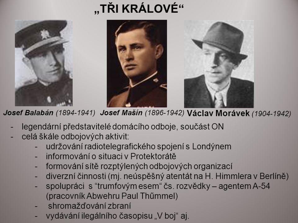 """""""TŘI KRÁLOVÉ Václav Morávek (1904-1942)"""
