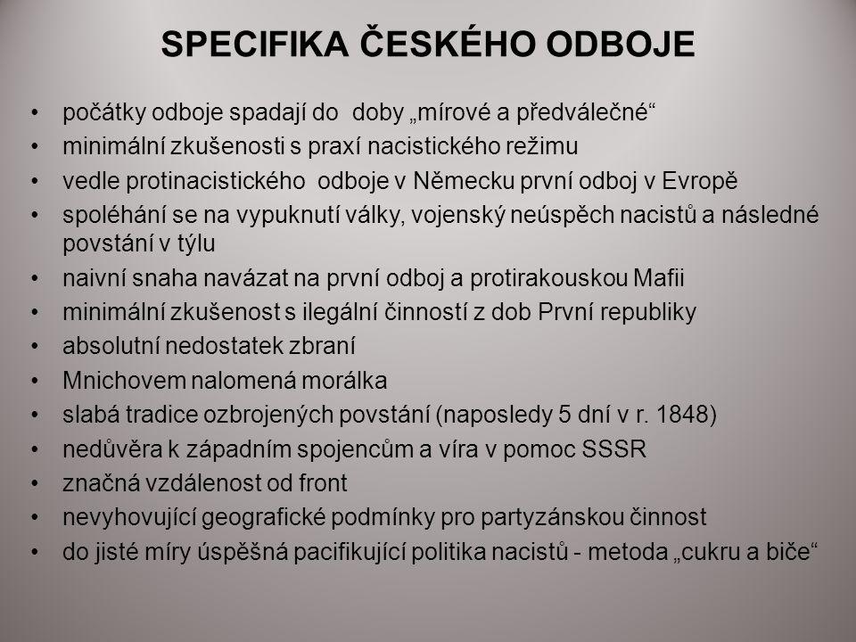 SPECIFIKA ČESKÉHO ODBOJE