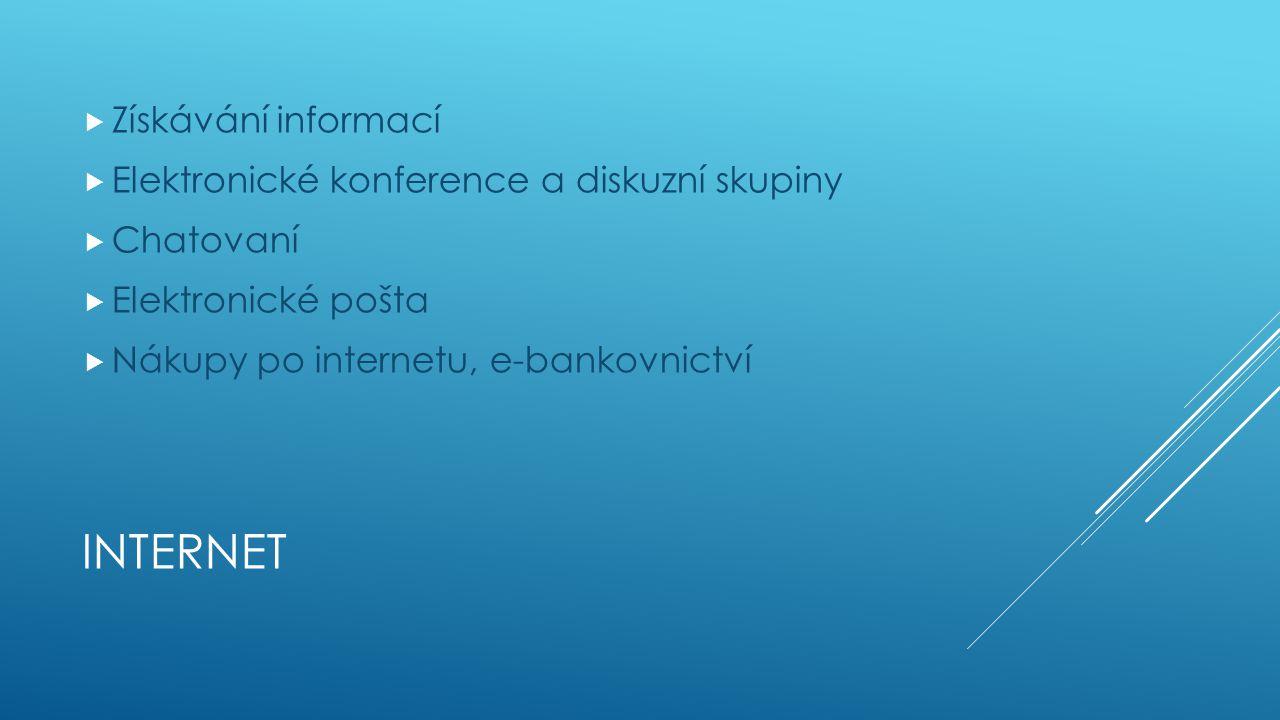 Internet Získávání informací