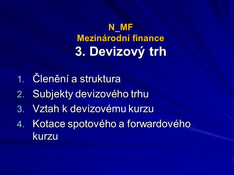 N_MF Mezinárodní finance 3. Devizový trh