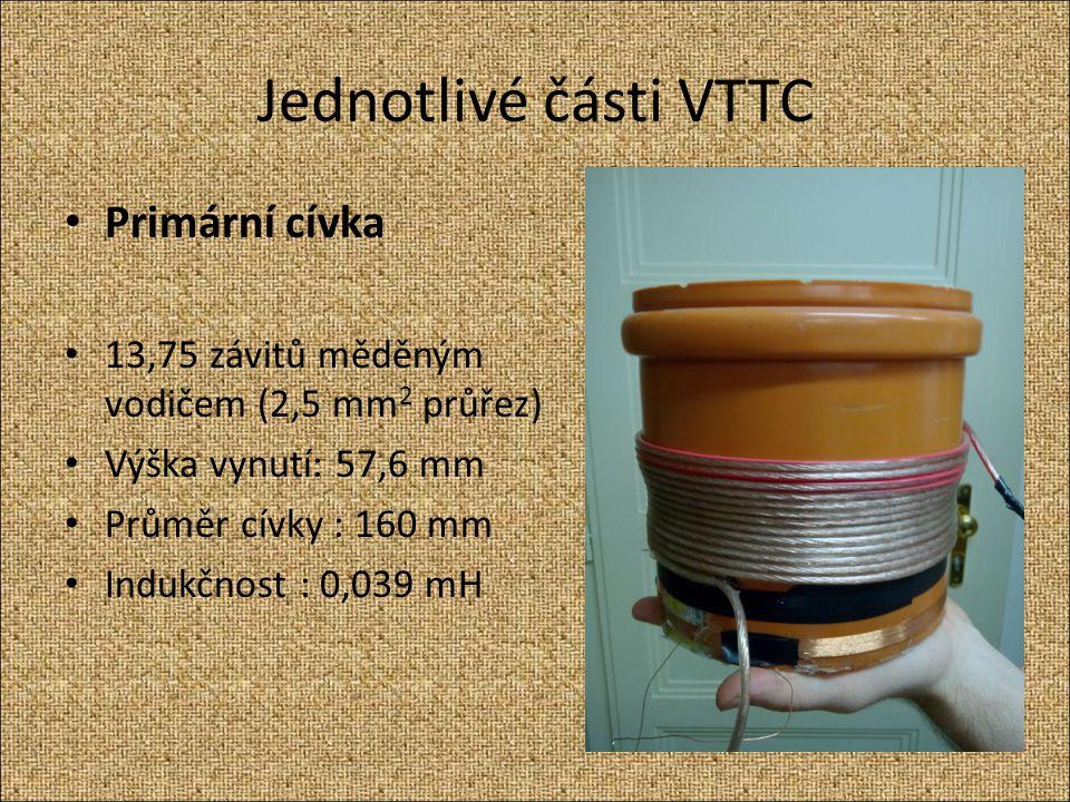 Jednotlivé části VTTC Primární cívka