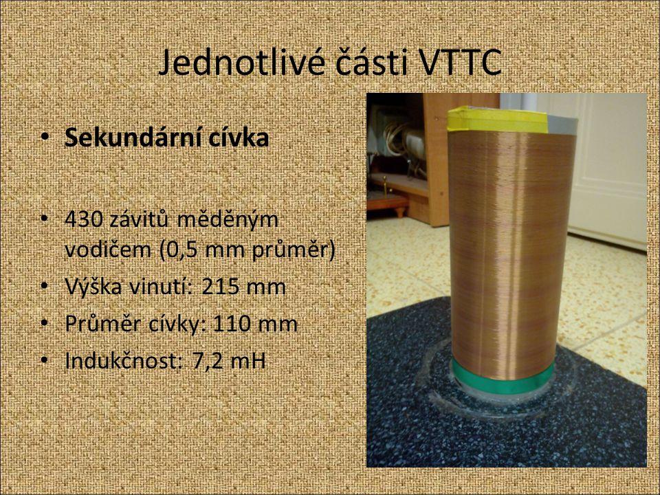 Jednotlivé části VTTC Sekundární cívka