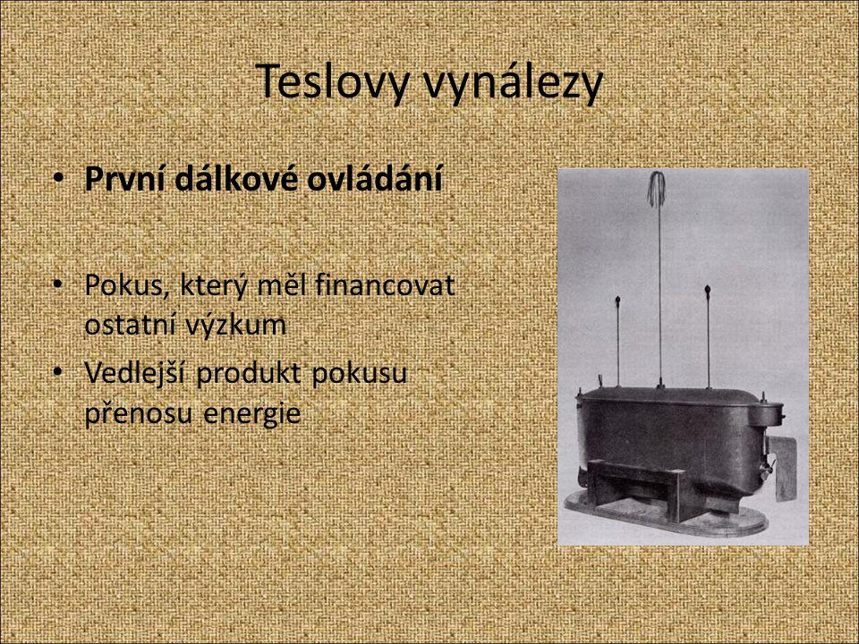 Teslovy vynálezy První dálkové ovládání