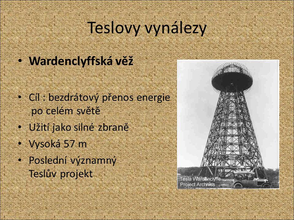 Teslovy vynálezy Wardenclyffská věž