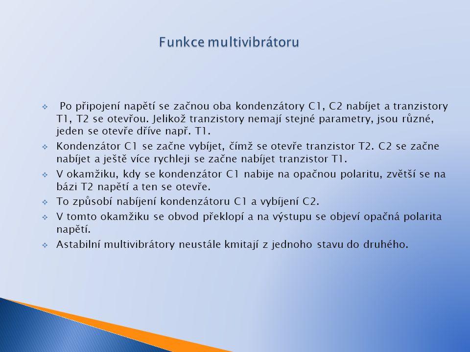 Funkce multivibrátoru