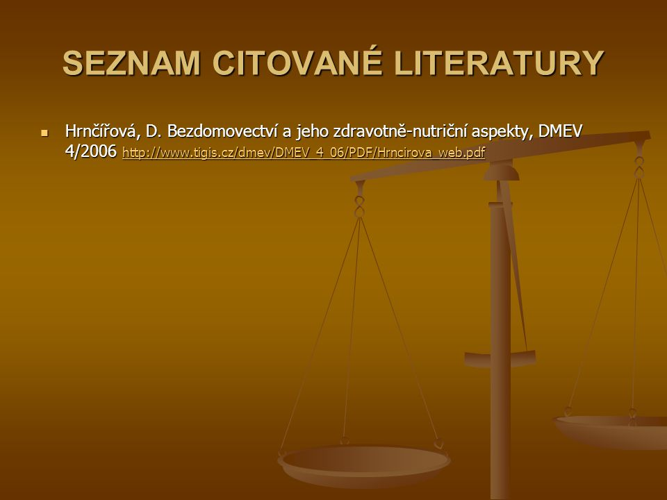 SEZNAM CITOVANÉ LITERATURY