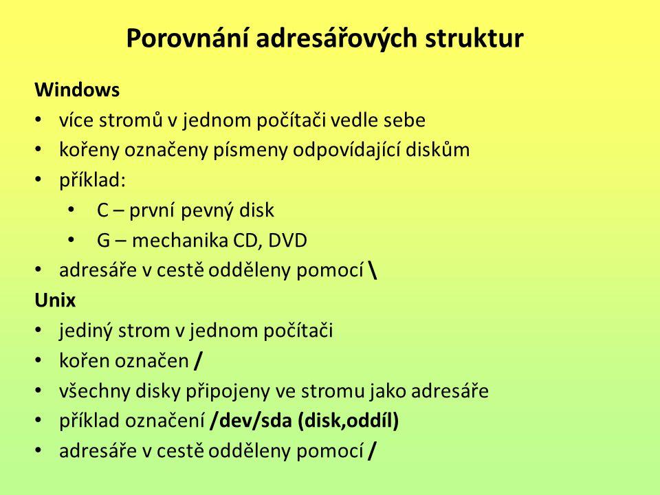 Porovnání adresářových struktur